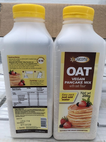 OAT vegan PANCAKE MIX 200g x 2 packs